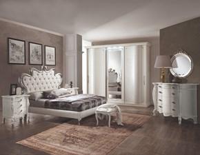 Camera completa Artigianale Modello madreperla bianca a prezzo scontato in laminato