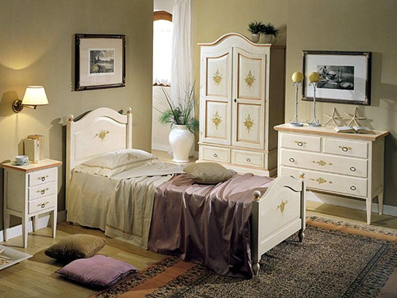 Camera completa camera da letto stile provenzale mottes mobili artigianale in legno a prezzo - Camere da letto stile liberty ...