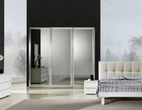 Camera completa Camera matrimoniale completa con armadio scorrevole con specchi fumè scontata del 30% Gierre mobili in laminato in Offerta Outlet