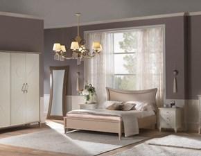 Camera completa Camera matrimoniale con letto testiera sfiancata Mottes selection in legno a prezzo scontato