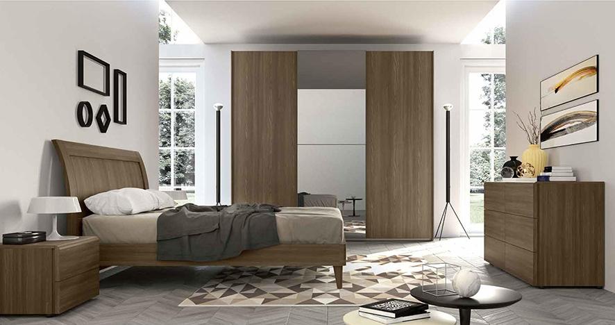 Camera completa con letto matrimoniale con testiera curva for Prezzo camera matrimoniale