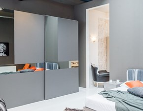 Camera completa di armadio Logica vetro, comò e comodini bianchi Pass by Tomasella scontati 30%