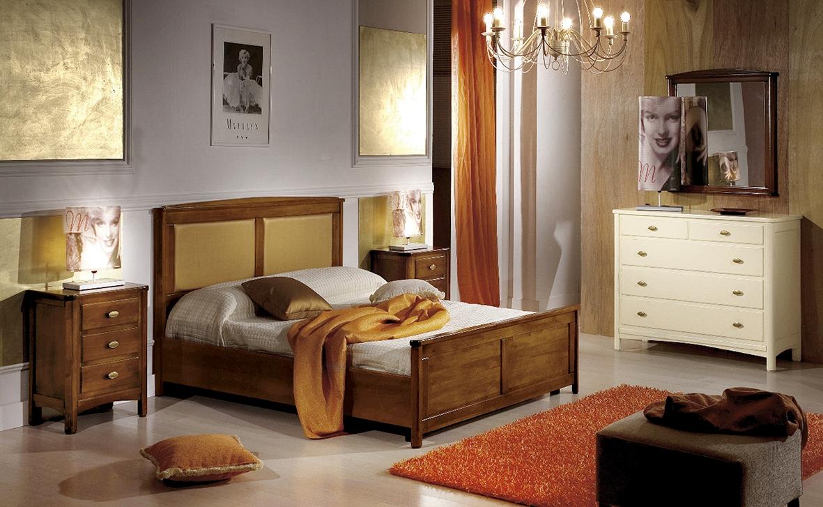 Camera completa in stile classico con mobili in legno - Mobili bagno legno massiccio ...