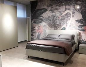 Camera completa laccata opaca ral grigio nuvola e letto Sacco Pianca in Offerta Outlet -35%