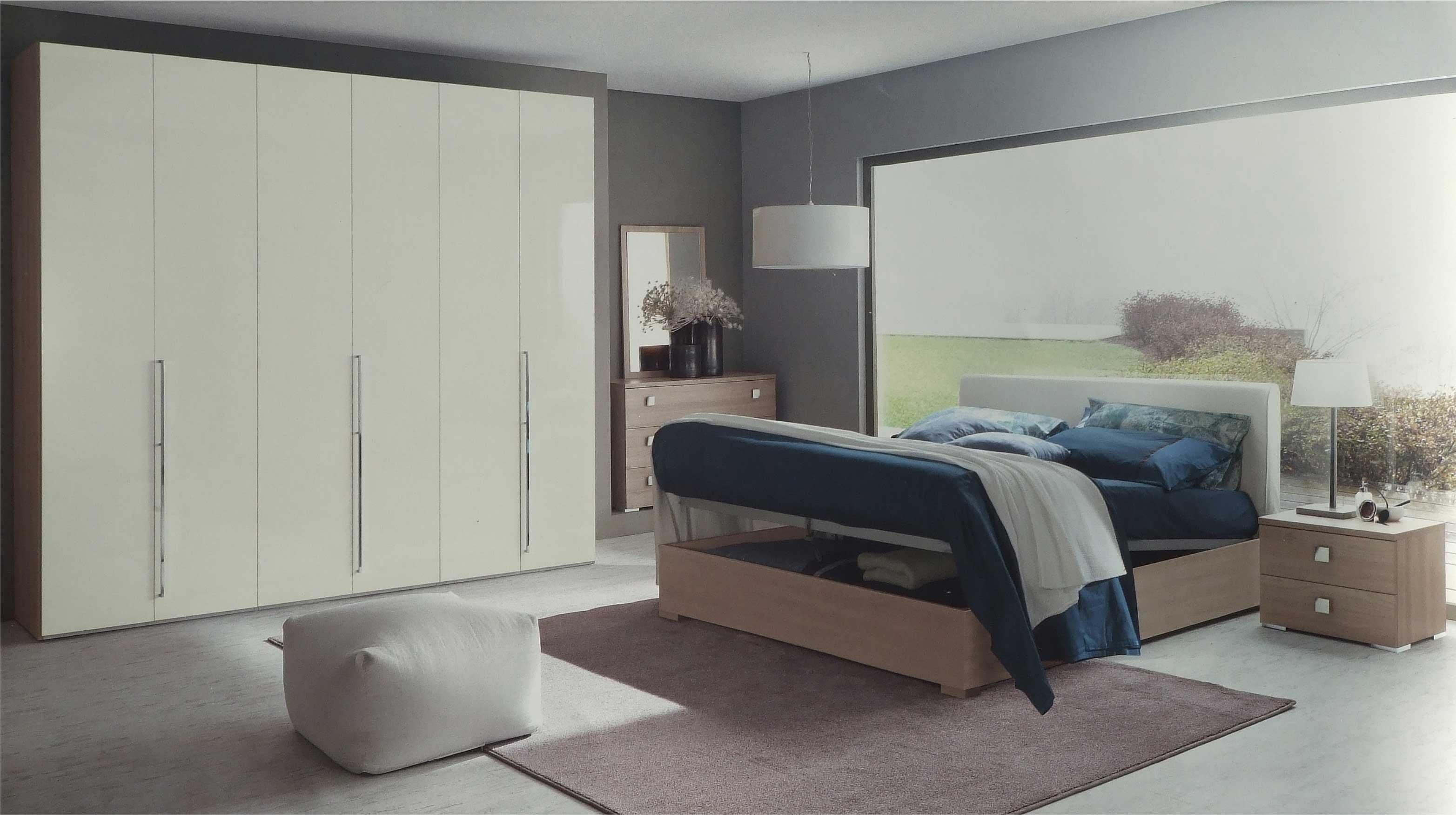 camera completa plana letto contenitore armadio 6 ante