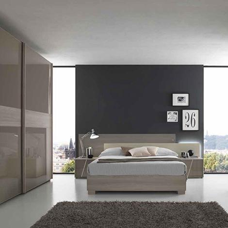 Camera con letto matrimoniale con contenitore nuova a for Prezzo camera matrimoniale
