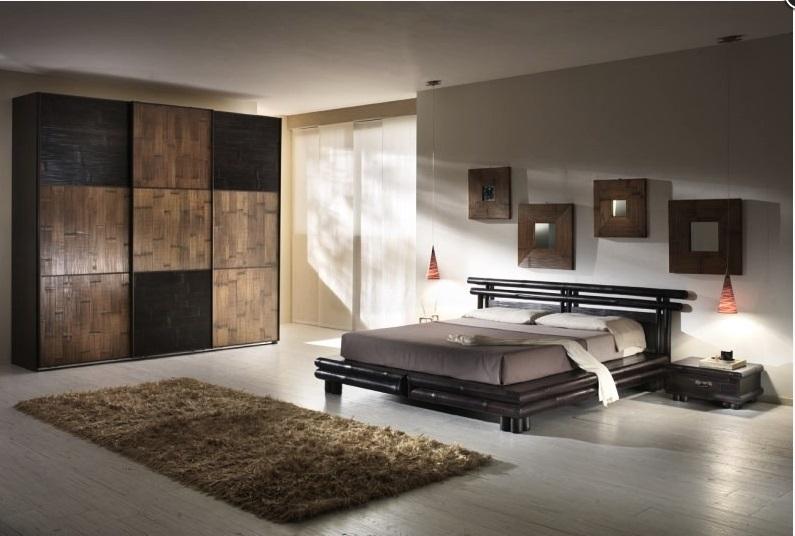 Camera convenienza tsu miele antico noce scuro nuovimondi for Camera di letto completa