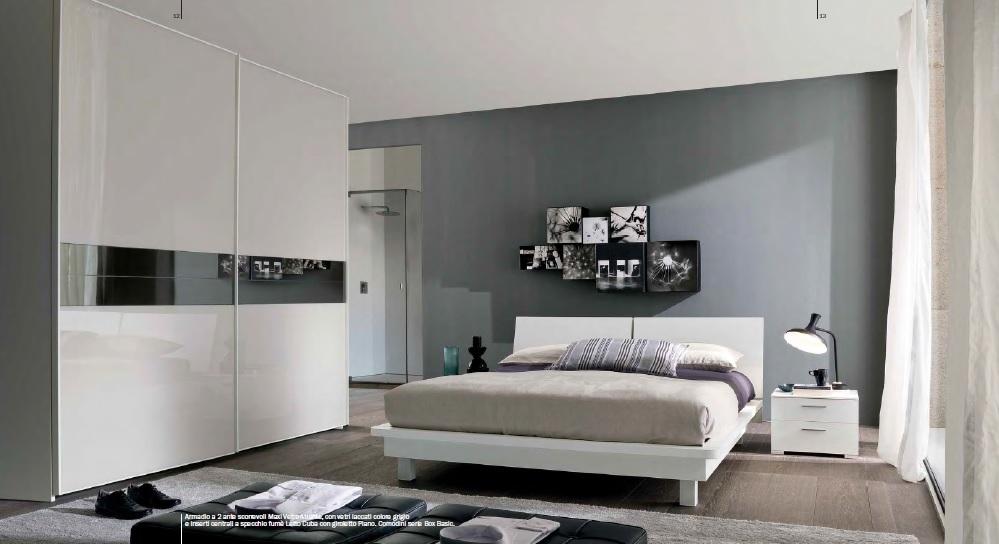 venduto camera da letto finitura bianco a poro aperto composta da ...