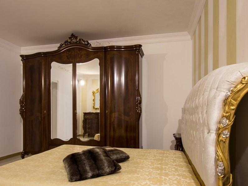 Camera da letto classica in piuma di noce portofino signorini coco in offerta - Camera da letto in noce ...