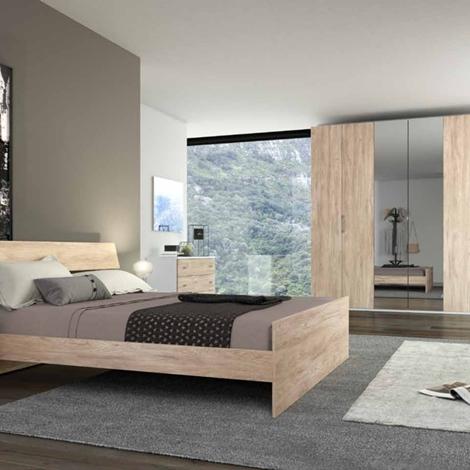 Camera da letto matrimoniale completa in stile moderno cod for Illuminazione camera da letto matrimoniale