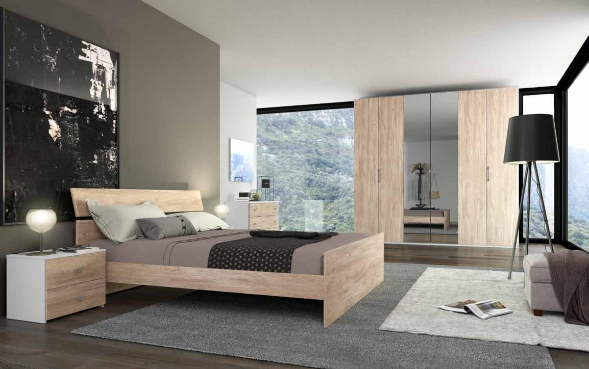 Camera da letto matrimoniale completa in stile moderno cod for Camere da letto moderne offerte