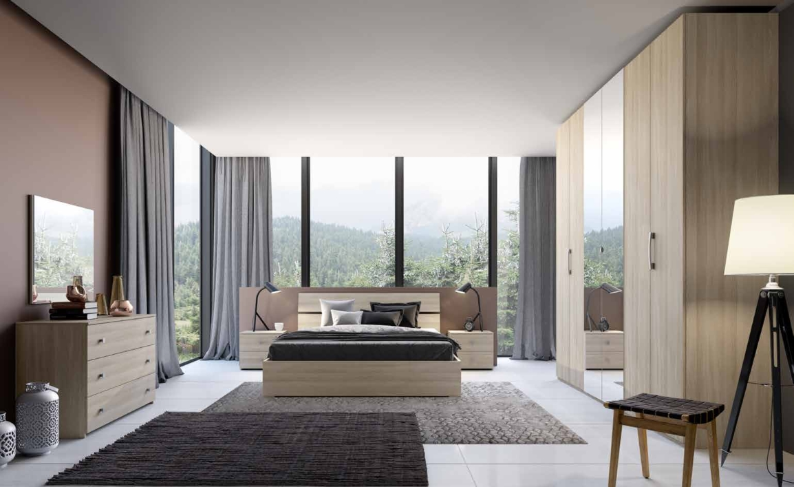 Camera da letto matrimoniale completa in stile moderno cod for Offerta camera letto