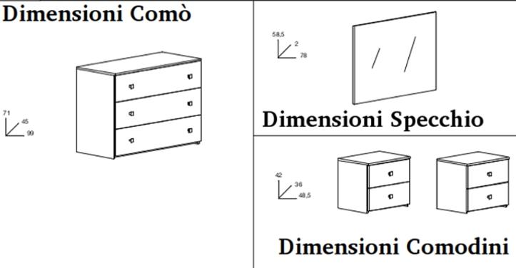 Dimensioni Comodini Letto Matrimoniale.Dimensioni Comodini Camera Da Letto Joodsecomponisten