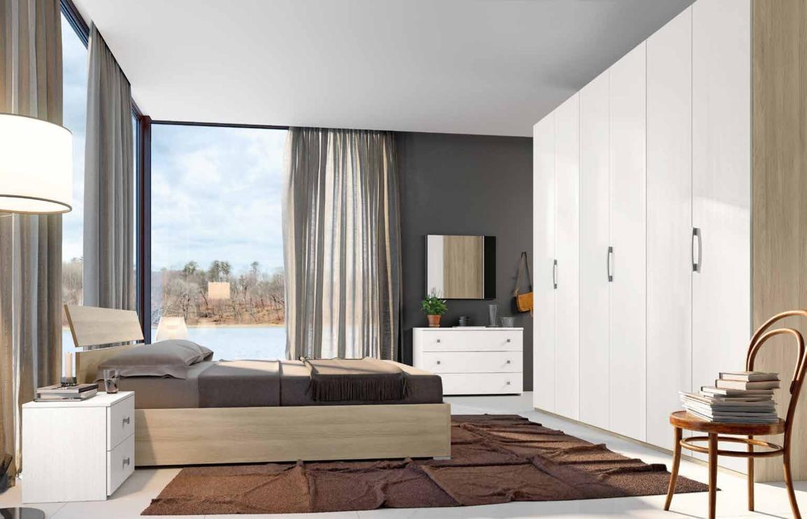 Camera da letto matrimoniale completa in stile moderno cod - Camera de letto matrimoniale ...