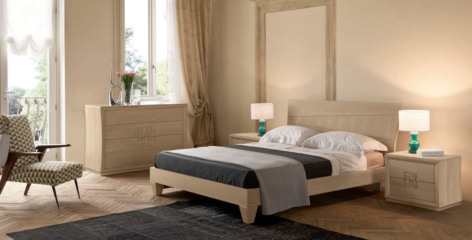 Camera modo10 decor by modo 10 legno design camere a for Camere da letto economiche prezzi
