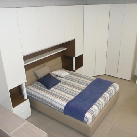 Camera matrimoniale a ponte con colonne comodino dielle modus - (letto escluso) - Camere a ...