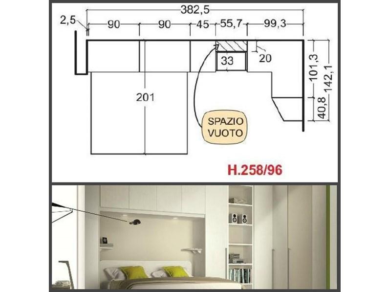 Camera matrimoniale con armadio a ponte e cabina armadio angolare targata san martino mobili - Camere da letto con cabina armadio angolare ...