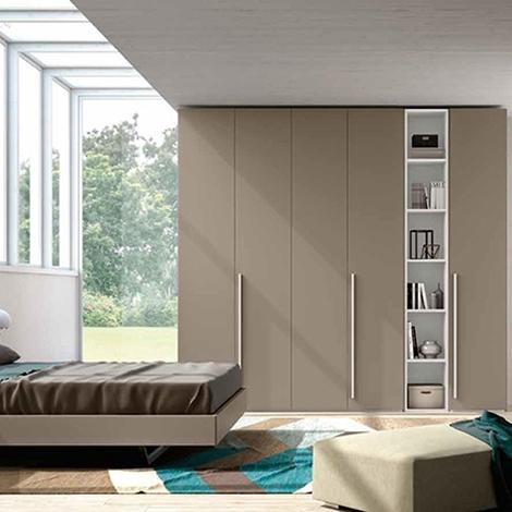 Camera matrimoniale con armadio con libreria nuova a - Armadio camera matrimoniale dimensioni ...