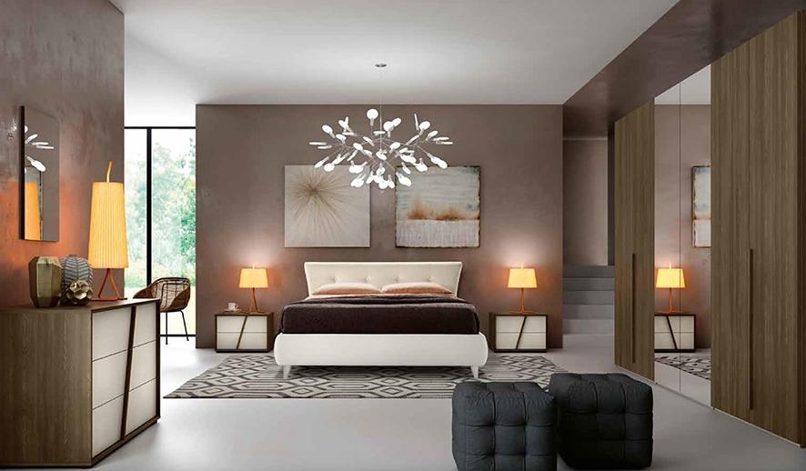 Camera matrimoniale con letto con testiera imbottita for Prezzo camera matrimoniale