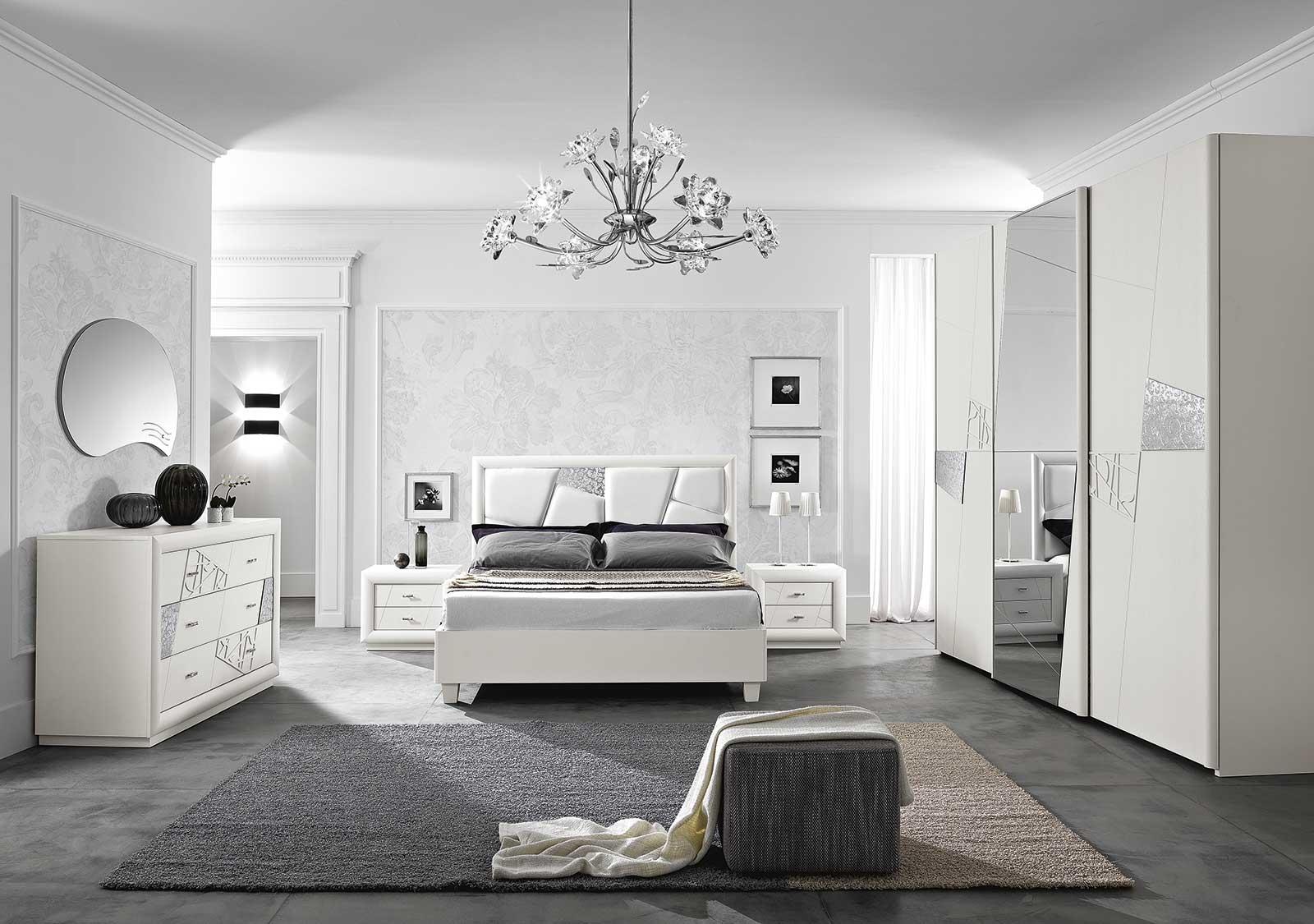 Camera chantal bianco contemporanee legno camera completa for Outlet arredamento bologna