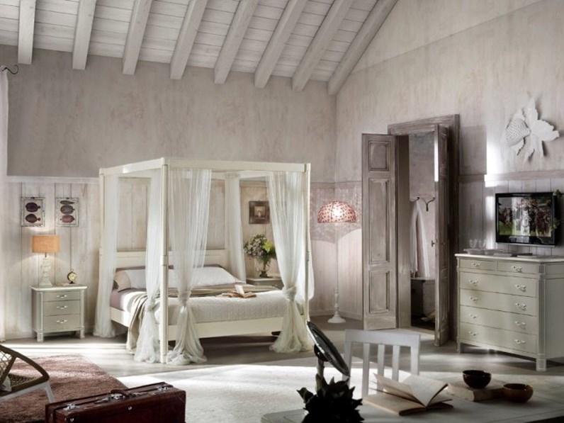 Camera matrimoniale in legno gruppo letto in stile provenzale