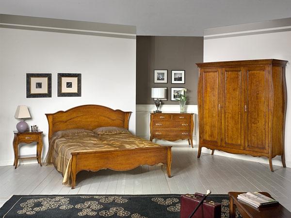 Camera matrimoniale in legno massello style veneto for Camera matrimoniale in legno