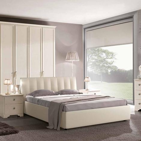 Camera matrimoniale in stile provenzale laccata bianca - Camere a prezzi scontati
