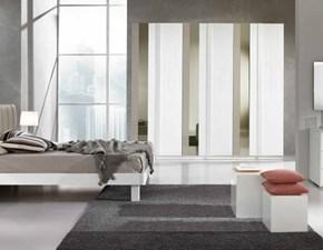 Camera matrimoniale mod.Miluna Trend con specchi verticali