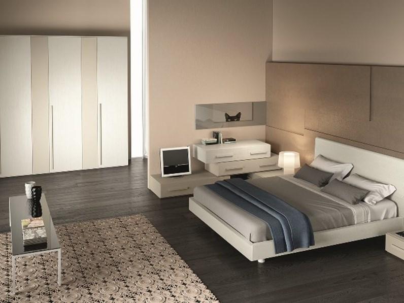 Camera matrimoniale moderna in laminato materico scontata for Camere da letto moderne marche