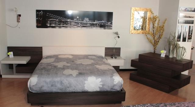 Offerta letto con gruppo letto novamobili olmo scuro e - Camere da letto color tortora ...