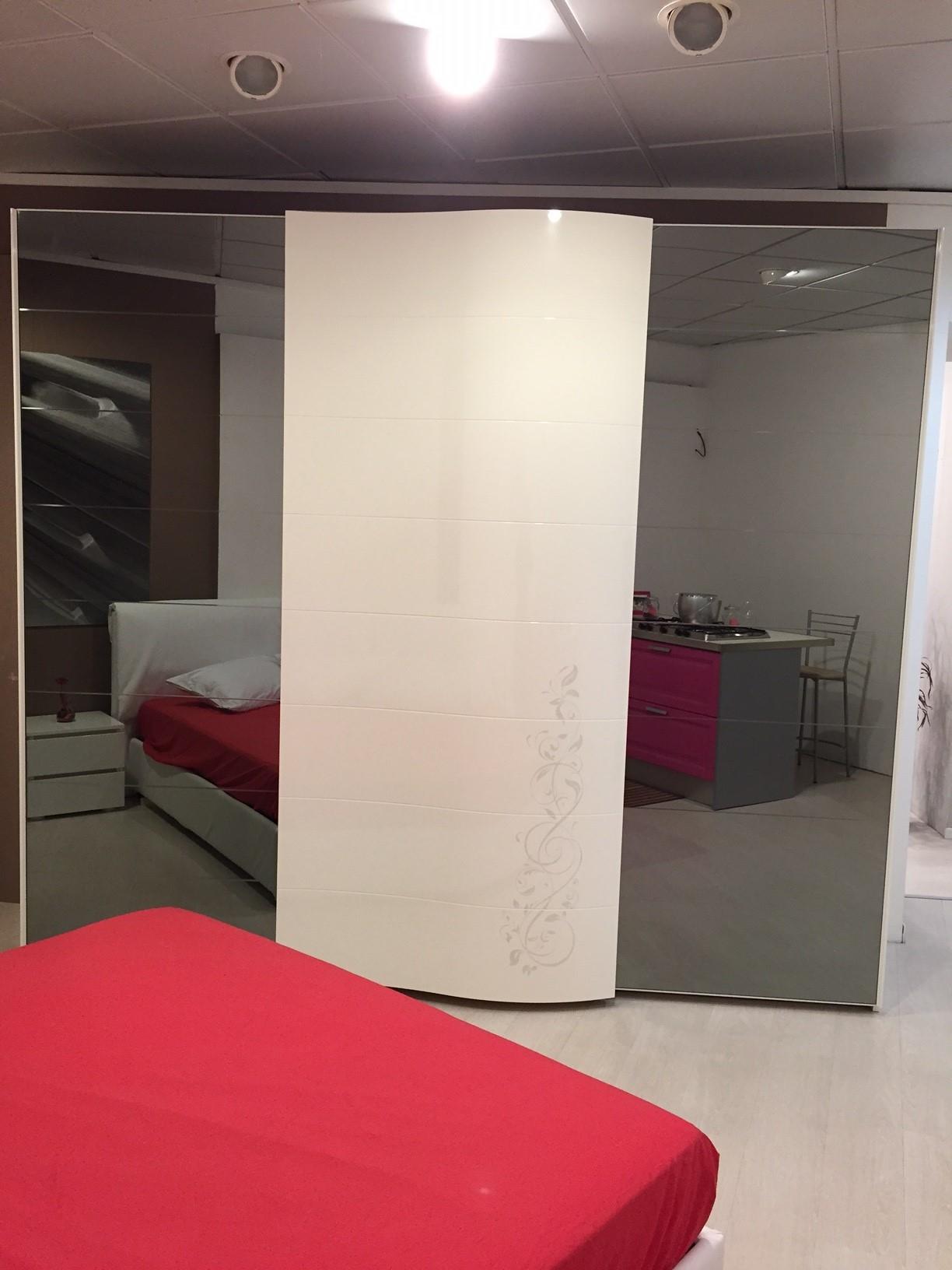 Camera spar prestige laccato lucido moderno camera completa camere a prezzi scontati - Camera da letto spar prestige dimensioni ...