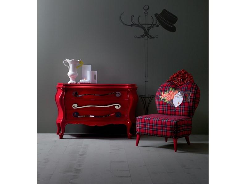 Cassettiera creazioni silik modello berto rosso lucido for Berto arredamenti