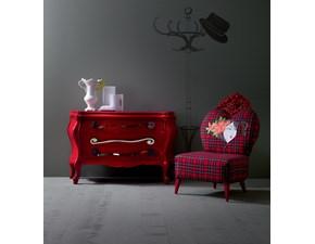 Cassettiera Creazioni Silik modello Berto Rosso lucido
