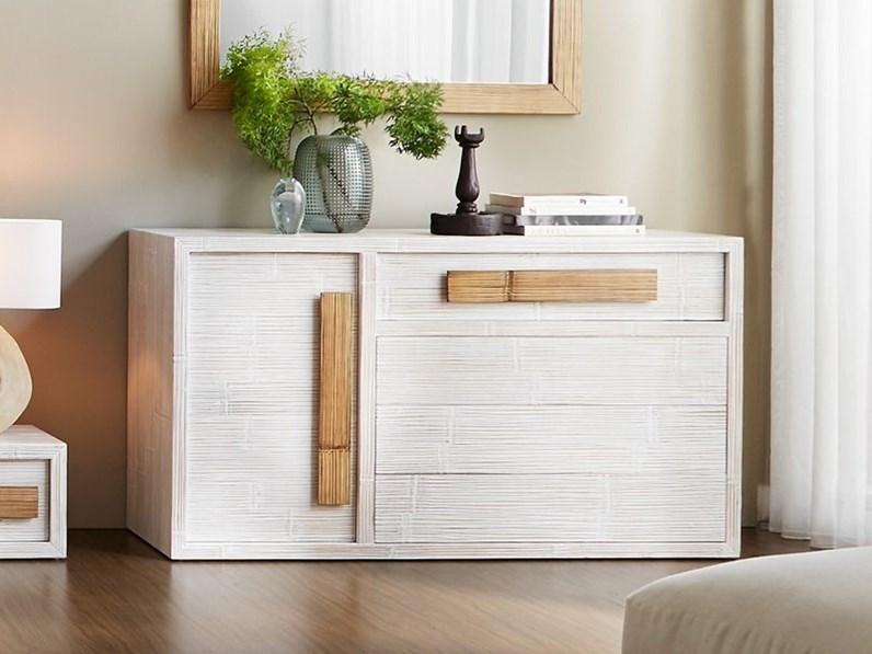 Cassettiere com light bianco e miele artigianale prezzi for Cassettiere design outlet