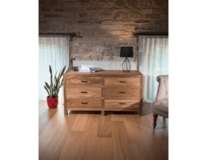 Cassettiere Linear Artigianale in legno a prezzo scontato