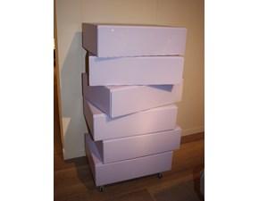 Cassettiere Morgana Lago in laccato lucido a prezzo ribassato