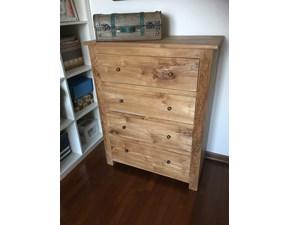 Cassettiere Teak massello Artigianale in legno a prezzo scontato