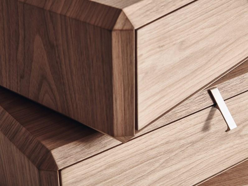 Cassettiere teorema molteni c in legno a prezzo ribassato for Cassettiere design outlet