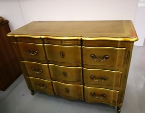 Como' classico in legno  in foglia oro