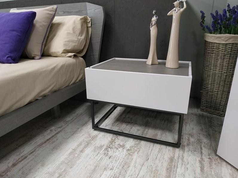 Comò e comodini Gruppo letto mobilgam moderno design Mobilgam in laccato  opaco a prezzo scontato