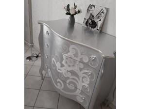Comò e comodini Modello foglia argento Artigianale in legno a prezzo Outlet