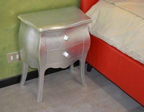 Comodino Comodino foglia argento Castagnetti in legno in Offerta Outlet