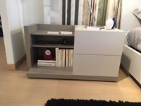 Comodino Easy wood Caccaro in pelle a prezzo Outlet