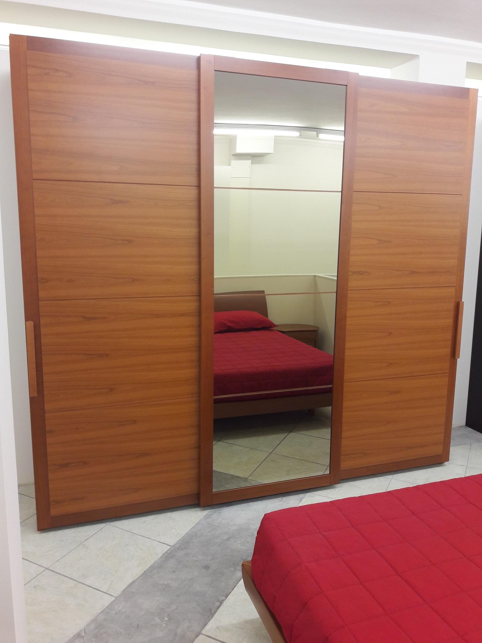 Camera moderna in legno ciliegio completa armadio - Armadio ciliegio specchio ...