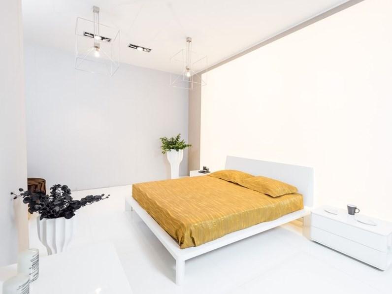 SUPER OFFERTA: Camera completa Clan bianco lucido con letto per rete 180x200