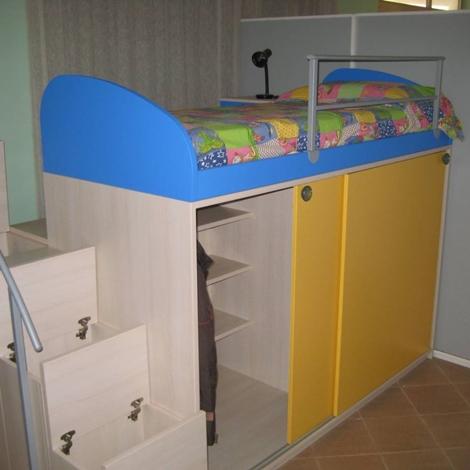 Soppalco letto armadio 2 ante for Faer camerette