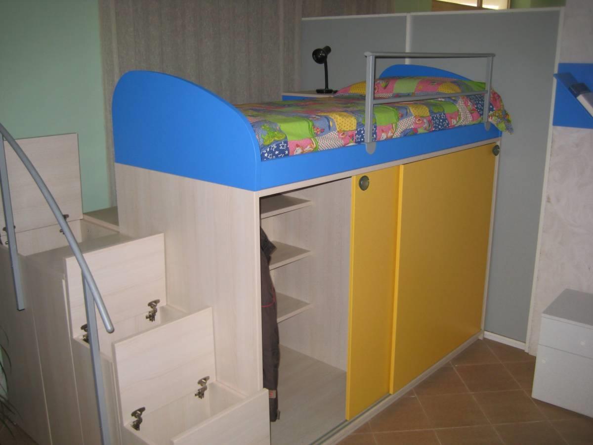 www.moroniarredamenti.it Soppalco letto, armadio 2 ante ...