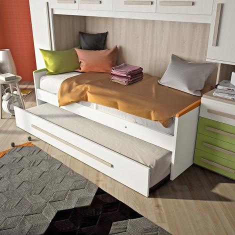San martino cameretta armadio lineare a ponte con letto - Ikea porta spezie ...