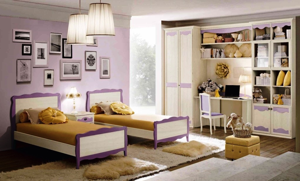 Cameretta a due letti armadio in legno decape 39 scontata for Cameretta due letti