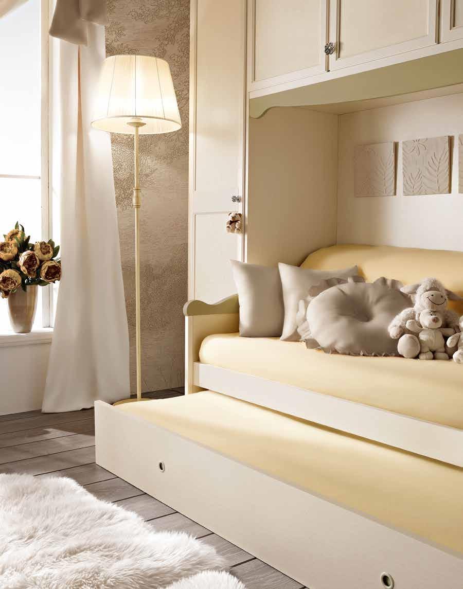 Camerette con letti estraibili idee creative di interni - Camerette a ponte con 2 letti ...
